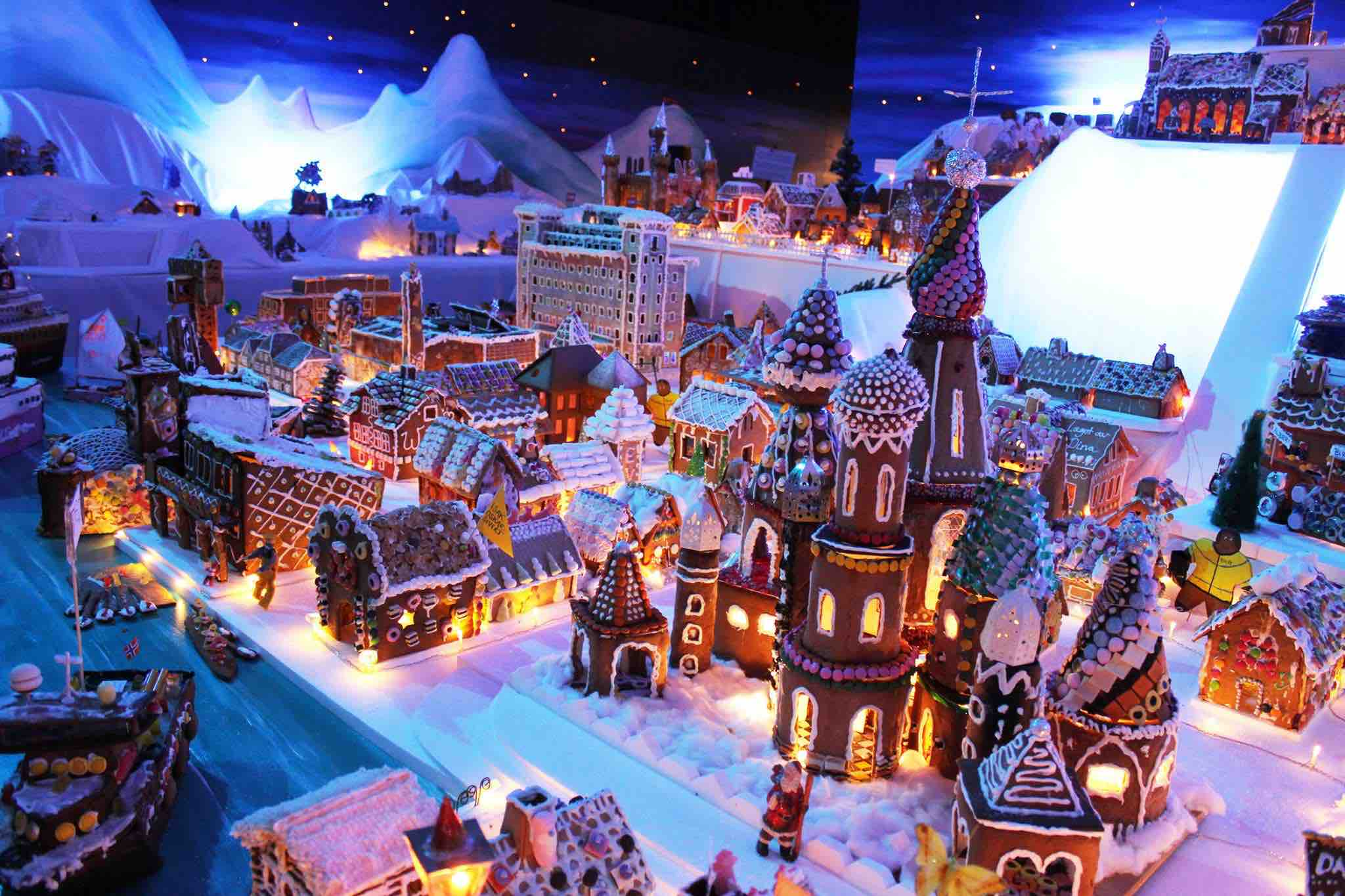 Worlds largest gingerbread town