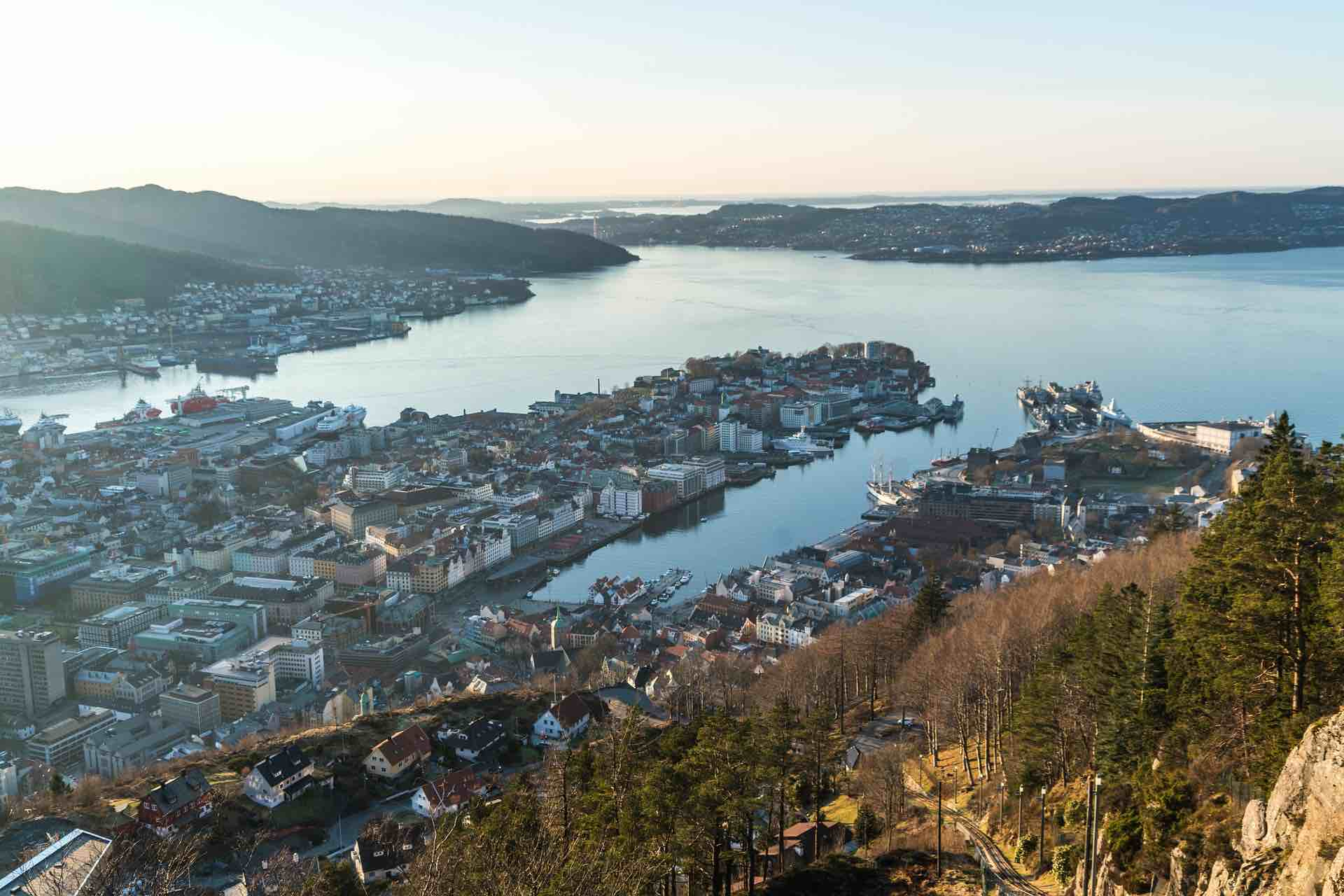 View from Fløyen