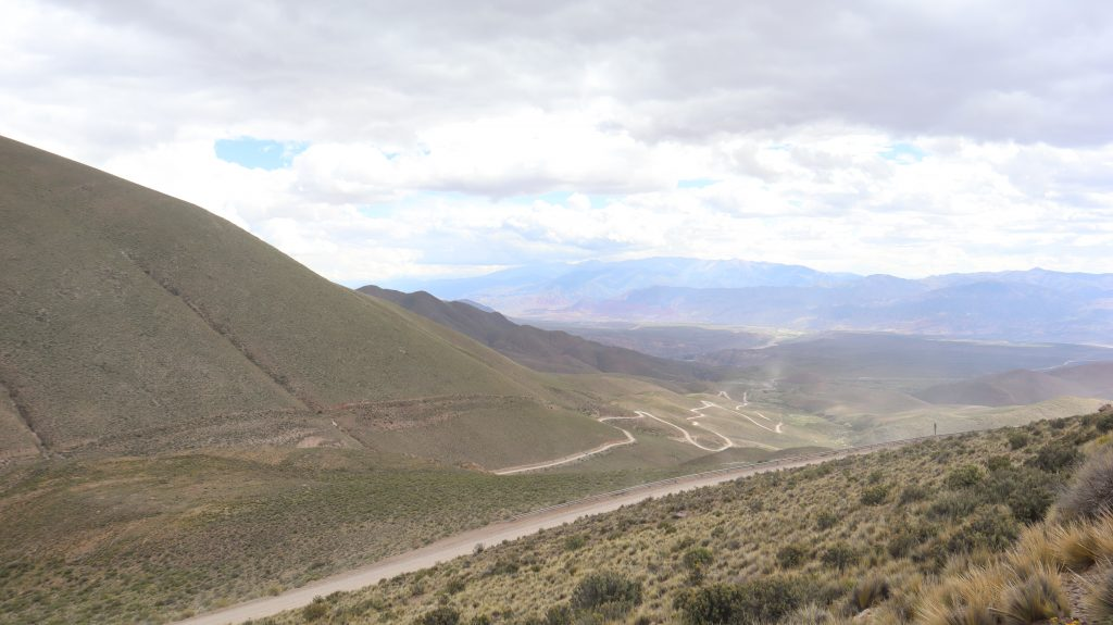 Dirt roads to Hornocal from Humahuca