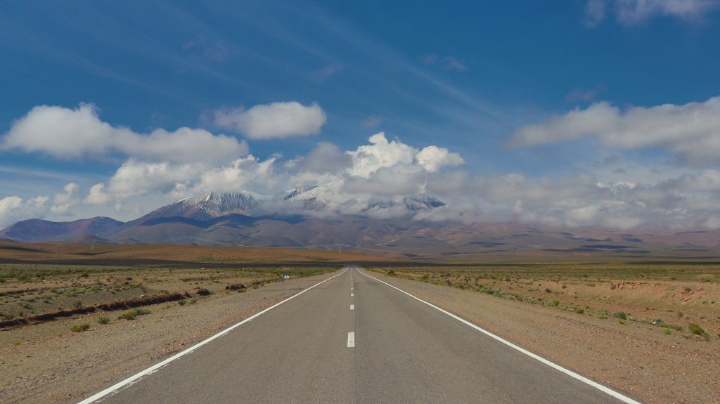 Highway with a view on our northern Argentina road trip