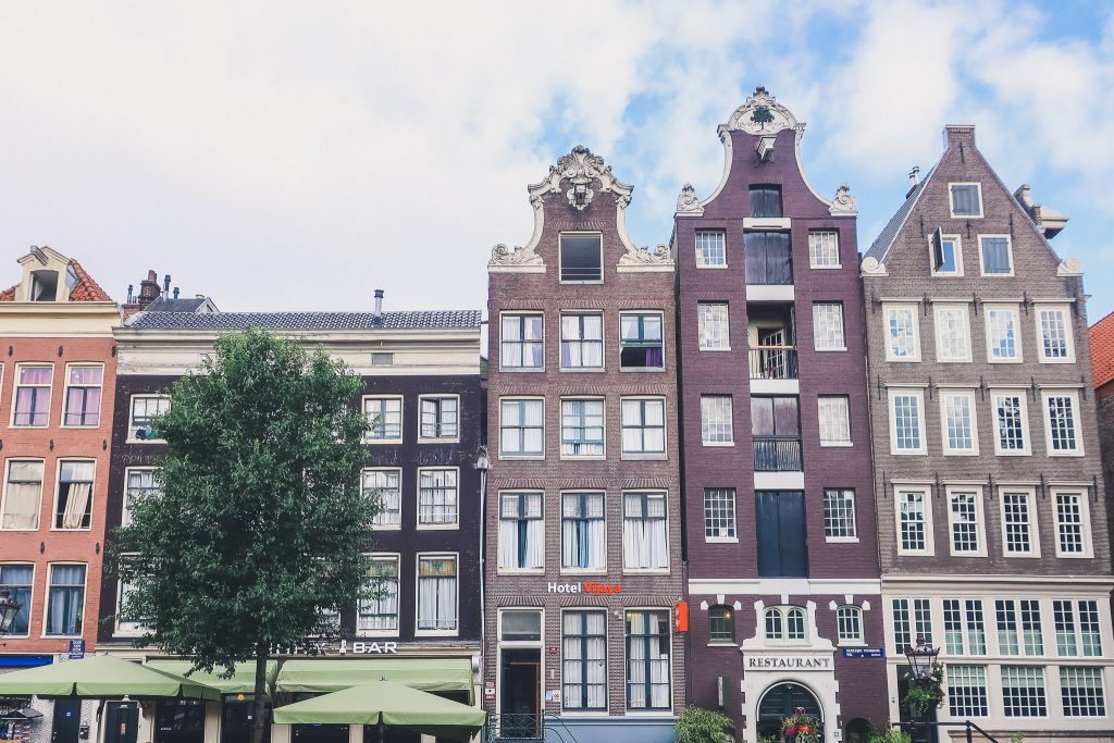 The characteristic houses of Amsterdam