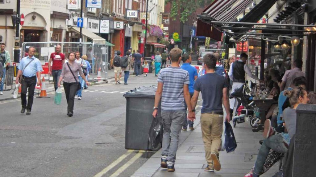 Gay couple in London